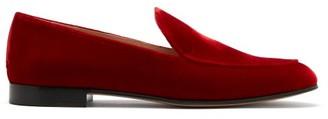 Gianvito Rossi Marcel Velvet Loafers - Red