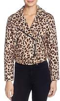 Catherine Malandrino Veruca Leopard-Print Moto Jacket