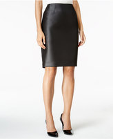 Kasper Dot Jacquard Pencil Skirt