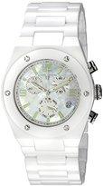 Swiss Legend Women's 10055-WWSA Throttle Analog Display Swiss Quartz White Watch