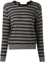 Marni striped open back jumper - women - Cashmere/Polyimide - 38