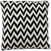 Eichholtz Chevron Cushion Black Cream Polyester 75x75cm