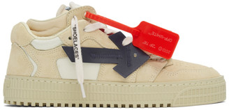 Off-White Beige Off-Court Low Sneakers