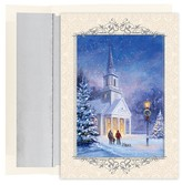 Hortense B. Hewitt 18ct Candlelit Church Holiday Boxed Cards