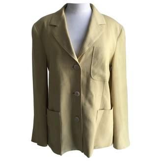 Max Mara \N Yellow Linen Jackets