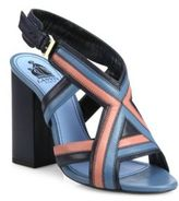 Lanvin Patchwork Leather Sandals