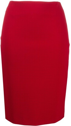 HUGO BOSS Check Print Pencil Skirt