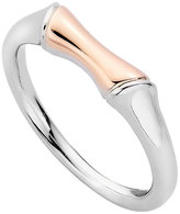 Clogau Gold Clogau Silver 9ct Rose Gold Bamboo Ring Size P