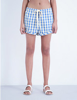 Solid & Striped The drawcord cotton and linen-blend shorts