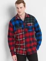 Gap Mix-plaid flannel standard fit shirt