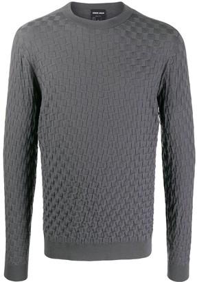 Giorgio Armani Knitted Plait Effect Jumper