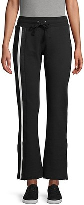David Lerner Striped Tape Cotton Sweatpants