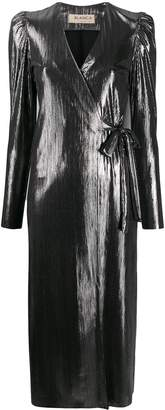 Blanca Vita metallized wrap dress