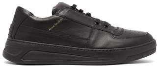 Acne Studios Perey Low Top Leather Trainers - Mens - Black