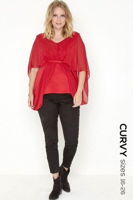 Girls On Film Outlet Red Kimono Top