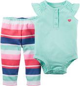 Carter's Sleeveless Bodysuit and Pants Set - Baby Girls newborn-24m