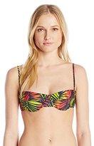 Milly Women's Palm Print Italian Swim Maxime Underwire Bikini Top