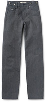 Nigel Cabourn - Wide-leg Striped Cotton-ticking Trousers