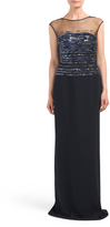 Midnight Stretch Crepe Gown