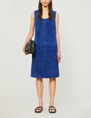 Joseph Patty suede midi dress