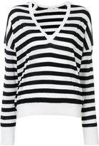 Rag & Bone striped v-neck jumper