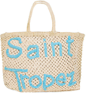 MC2 Saint Barth Jute Macrame Bag With Saint Tropez Embroidery