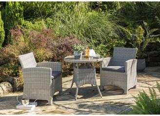 Kettler Palma 2-Seater Round Garden Bistro Table & Chairs Set