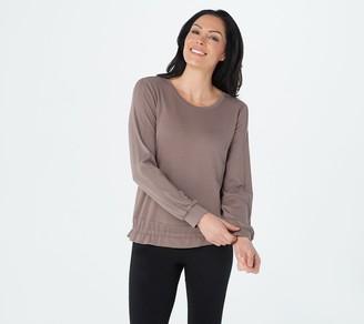 AnyBody Textured Knit Long Sleeve Top