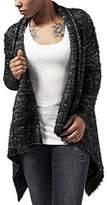 Urban Classics Women's Ladies Knit Feather Cardigan Cape,Medium