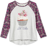 Jessica Simpson Graphic Long-Sleeve T-Shirt, Big Girls (7-16)