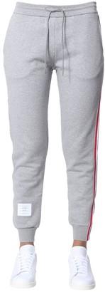 Thom Browne Logo Patch Side Band Sweatpants