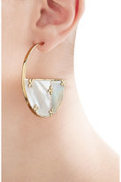 Aurelie Bidermann Bianca 18kt Gold Plated Earrings with Mother of Pearl
