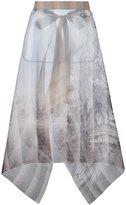 Fendi sheer printed skirt - women - Silk/Cotton/Viscose - 42