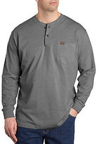 Wrangler Riggs Workwear by Long-Sleeve Henley Casual Male XL
