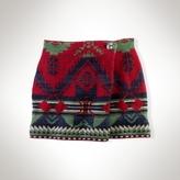Cotton Wrap Miniskirt