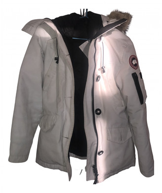Canada Goose Montebello White Synthetic Coats