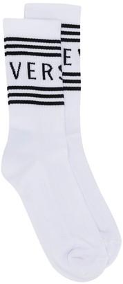Versace ribbed logo socks