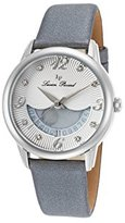 Lucien Piccard Women's 'Bellaluna' Swiss Quartz Stainless Steel and Leather Casual Watch, Color:Grey (Model: LP-40034-02-SGSS)
