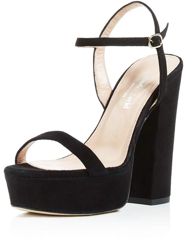 Charles David Retro Platform High-Heel Sandals