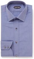Tom Ford - Blue Slim-fit End-on-end Cotton Shirt