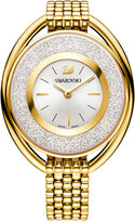 Swarovski Women's Swiss Crystalline Crystal Accent Gold-Tone Stainless Steel Mesh Bracelet Watch 43mm