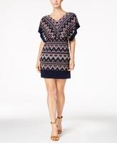 Sangria Petite Printed Blouson Dress