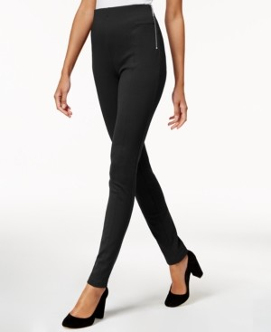INC International Concepts Inc Petite Zip-Detail Skinny Pants, Created for Macy's