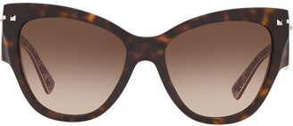 Valentino Eyewear Cat-Eye Gradient Sunglasses