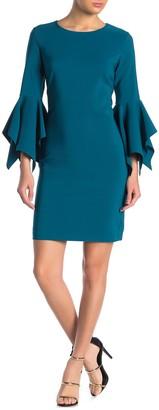 Laundry by Shelli Segal Bell Sleeve Shift Dress