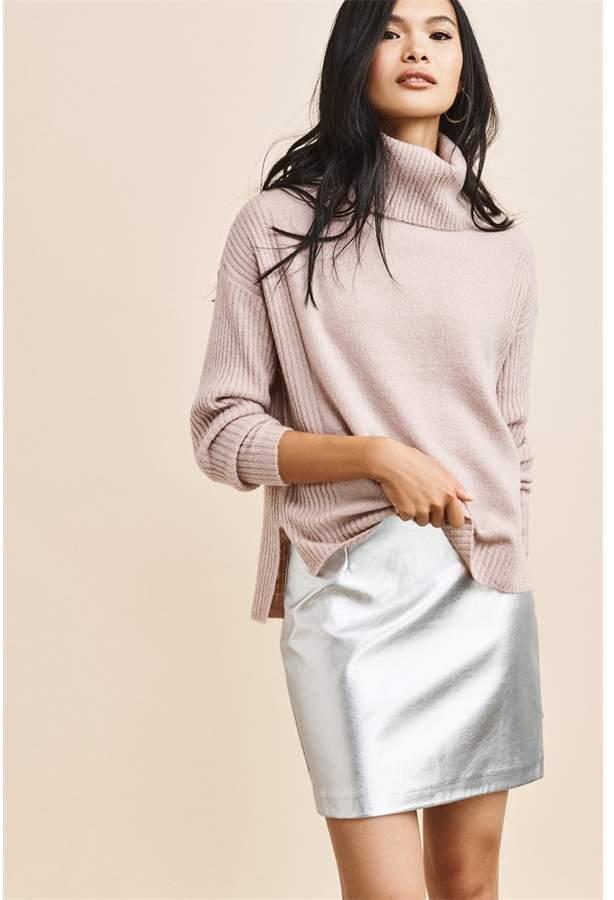 ed0d9d69aa Metallic Silver Mini Skirt - ShopStyle Canada