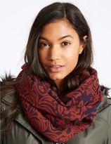 Marks and Spencer Pure Cotton Jacquard Print Scarf