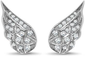 Pragnell 18kt white gold diamond Tiara earrings
