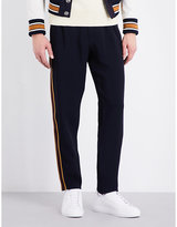 Alexander Mcqueen Stripe-detail Straight Crepe Trousers