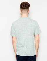 Farah T-Shirt with Hand Drawn Triangle Print in Regular Fit